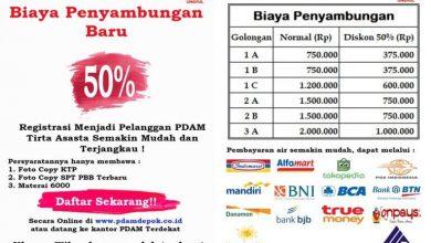 Photo of PDAM Tirta Asasta Kota Depok Diskon 50 % Buat Pelanggan Domestik