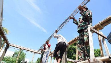 Photo of Marinir Bangun Di 17 Titik Percepatan Pembangunan Pasca Gempa Lombok